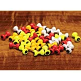 Cheap Hareline Painted Lead Dumbbell Eyes XS Pearl