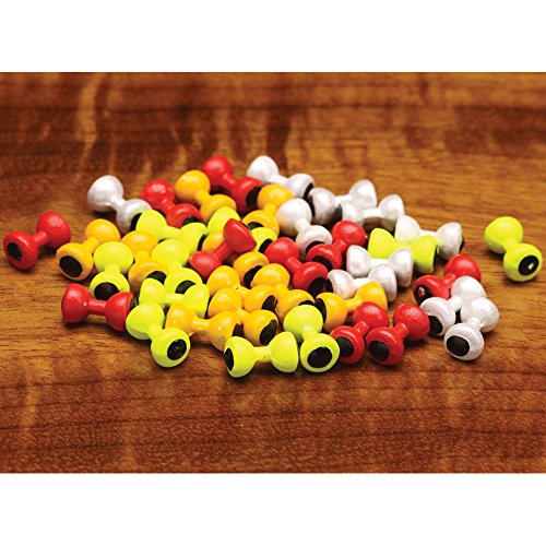 Hareline Painted Lead Dumbbell Eyes - Medium / Yellow