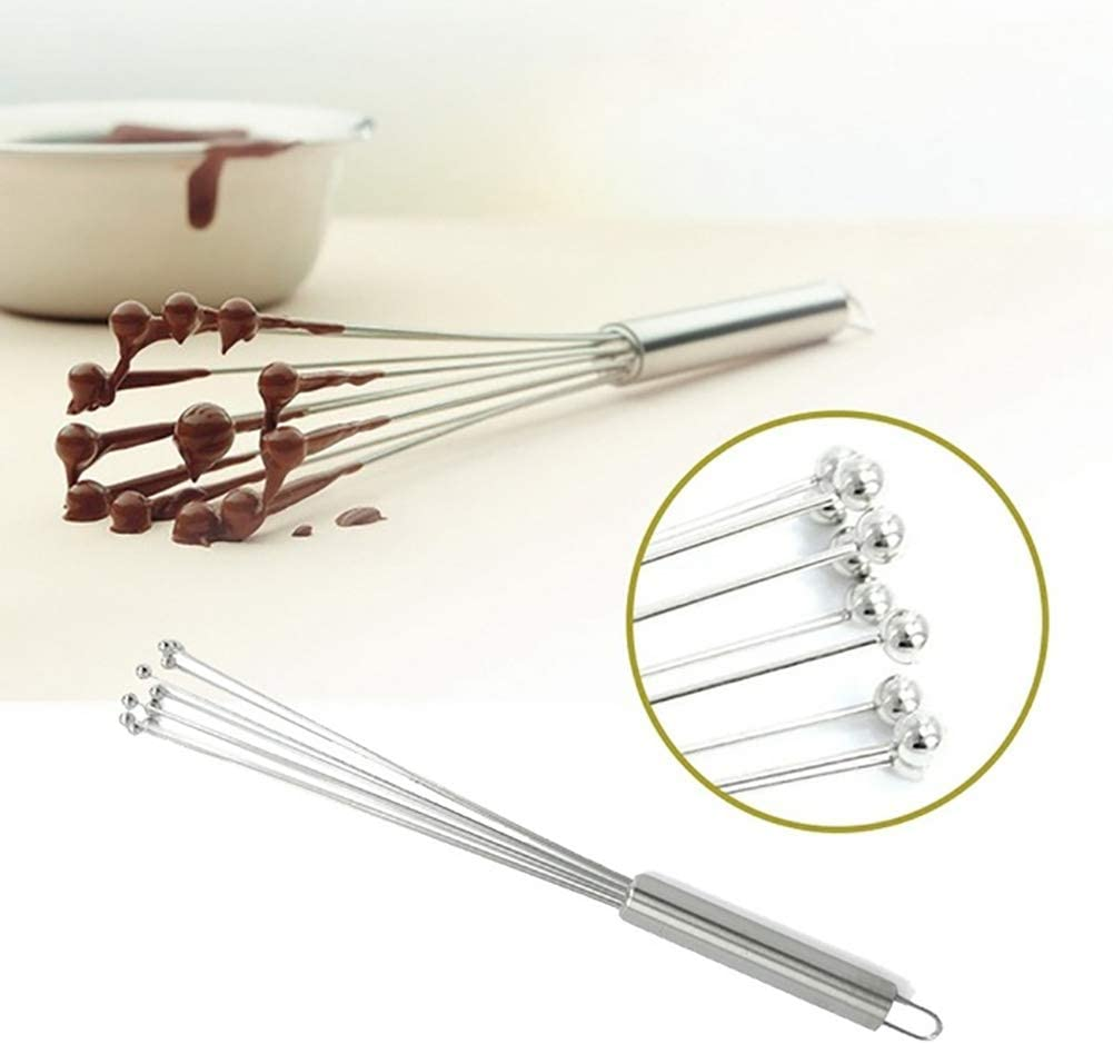 Beads Egg Beater Mixing Wire Ball Whisk Stainless Steel Cooking Kitchen Tools