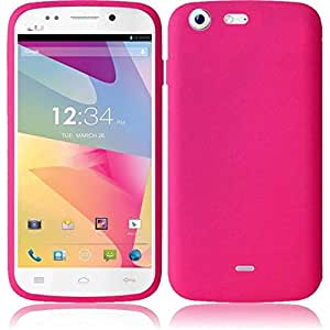 HRW Silicone Skin Case compatible with Blu Life One ,Hot Pink