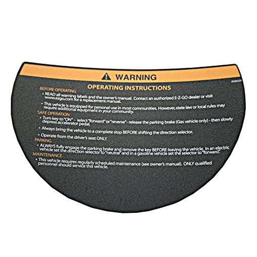 EZGO 608529 Warning Decal for Steering Wheel ()