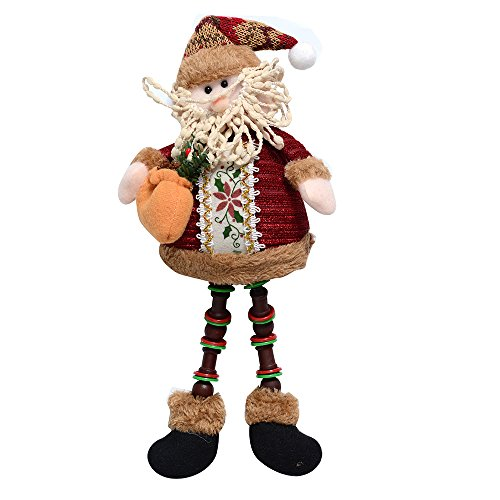 Santa Claus And Reindeer Decoration - QBSM Christmas Standing Figurine Toys Dolls Santa Claus Snowman Reindeer Xmas Hanging Home Indoor Table Ornament Decorations (Santa Claus)