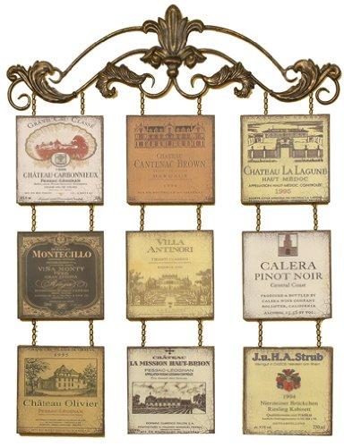 Antique Wine Bottle Labels Wall Décor