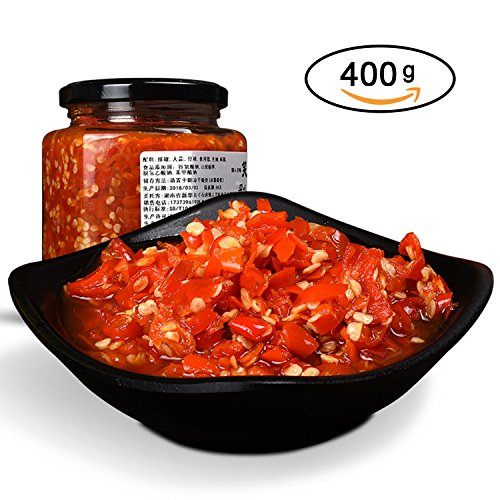 - Hot Chopped Peppers, Garlic Chilli Sauce, Chili Pepper, Hot Chili Oil with Chili Flakes, 14 oz