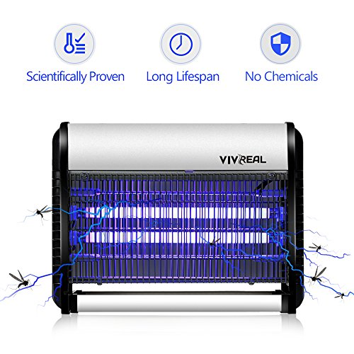 Bug Zapper - Electronic Insect Killer Mosquito Killer Night Lamp Mosquito Trap Mosquito Zapper Insect Trap, Light Trap. Indoor, Ideal for Home Commercial Industrial Use 19Watts, 538 SQ.FT Coverage by Syhonic