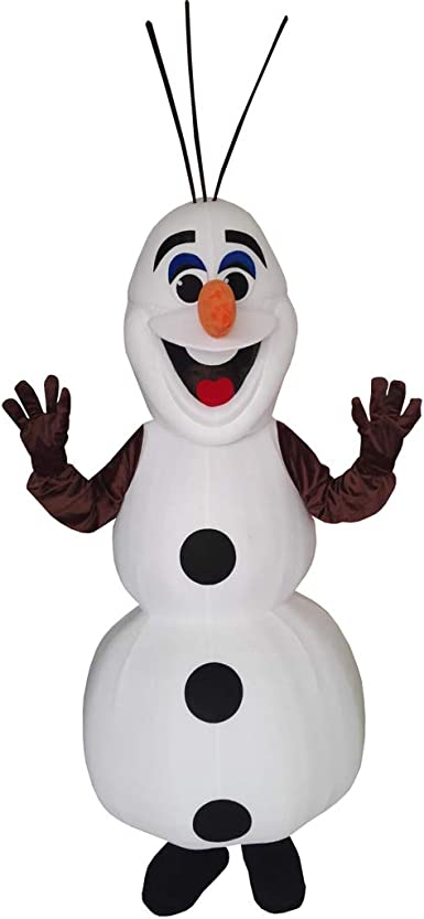 White Olaf Mascot Costumes Frozen Snowman Costume Adult Fancy Dress