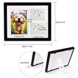 Petacc Pet Memorial Picture Frame Pet Paw Print Photo Frame Kit Pet Keepsakes Kit for Cats and Dogs, with Clays, for Room Wall or Table Decor (black)