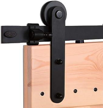 213CM/7FT Herraje para Puerta Corredera Kit de Accesorios para Puertas Correderas Conjunto de Piezas de Metal Carril para Puerta Deslizante: Amazon.es: Bricolaje y herramientas