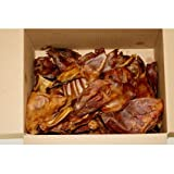 Hollings Pigs Ears Natural Dog Treats Bulk Box of 50, British Product, Britis...