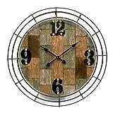 Outdoor Wall Clock 37.6'' Garden Yard Patio Decor Antique Style
