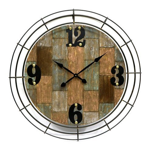 Outdoor Wall Clock 37.6'' Garden Yard Patio Decor Antique Style by Jeco Inc.