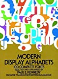 Modern Display Alphabets (Dover Books on Lettering, Graphic Arts & Printing)
