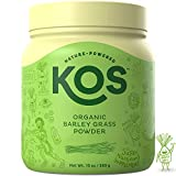 KOS Organic Barley Grass Powder | Non-GMO, Raw Barley Grass Powder | Fiber Rich, Antioxidant Heavy USDA Organic Plant Based Ingredient, 369g, 118 Serving
