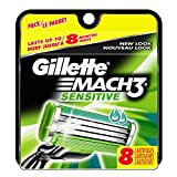 Gilletté Mach 3 Sensitive Razor Refill Cartridges 8-Count (Packaging may vary)