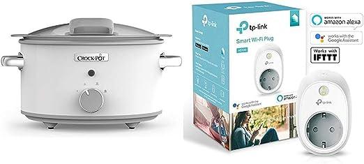 Crock-Pot DuraCeramic CSC038X Olla de cocción lenta manual 4,5 l ...