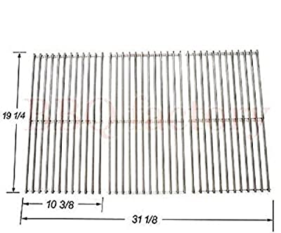 bbq factory Replacement Stainless Steel Cooking Grid Set of 3 for Select Gas Grill Models By Brinkmann, Charmglow, Costco, Jenn Air, Members, Nexgrill, Perfect Flame, Sams Club, Gas Grill and Others
