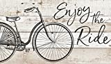 P. GRAHAM DUNN Enjoy The Ride Bicycle Natural 24 x 14 Wood Pallet Wall Plaque Sign Review