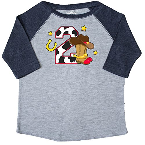 inktastic Cowboy Birthday Two Years Old Toddler T-Shirt 2T Heather and Navy - Old West Cowboy Clothing