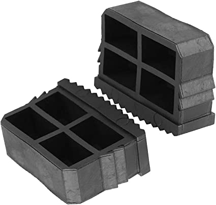 TOPINCN - Alfombrilla Antideslizante para pies de Escalera de Goma de Repuesto para Escalera de pies (2 Unidades), Color Negro: Amazon.es: Hogar