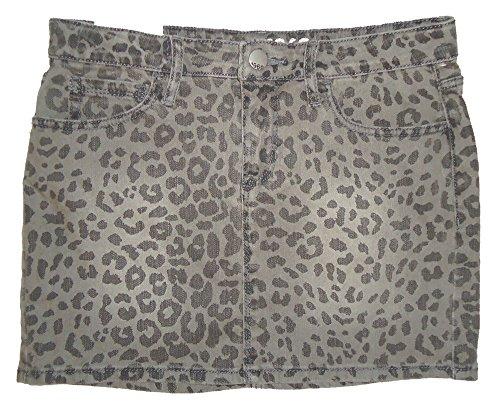 Gap Kids Girls Gray Leopard Denim Jean Mini Skirt ()
