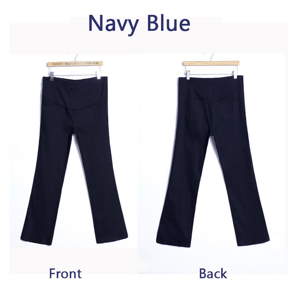 Duanmei Womens Maternity Bootcut Stretch Career Dress Pants Work Office Over-Bump Trousers