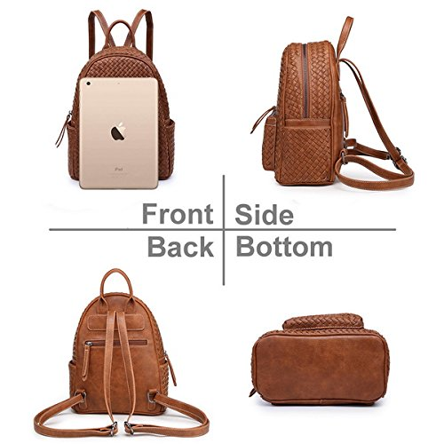 Small Women Backpack Purse for Women ladies Fashion Stylish Casual Shoulder Bags … (Tan) by Shomico (Image #3)