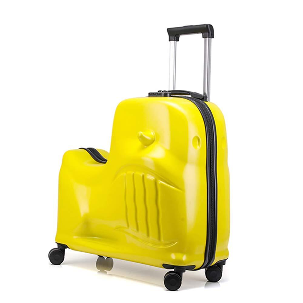 子供用トロリーケース、男女兼用ユニバーサルホイール20インチスーツケース、乗用トロリーケース、大容量収納、取り外し可能シートベルト B07SXCLB17 B