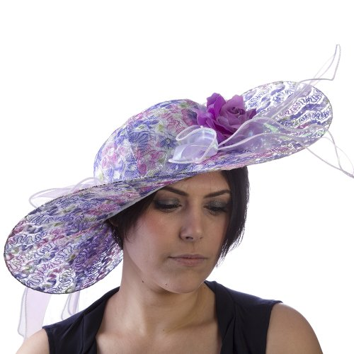 Edwardian Costumes Amazon (HMS Ladies Derby Hat, Purple, One Size)