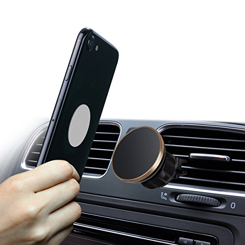 Magnetic Car Mount,360° Rotation Universal Air Vent Magnetic Mount,Magnetic Cell Phone Car Mounts Holder Magnet for iPhone 8, X, 7, 7P, 6S, 6P, 5S, Samsung Galaxy S5, S6, S7, S8,S9 Plus LG, Huawei by CEMG