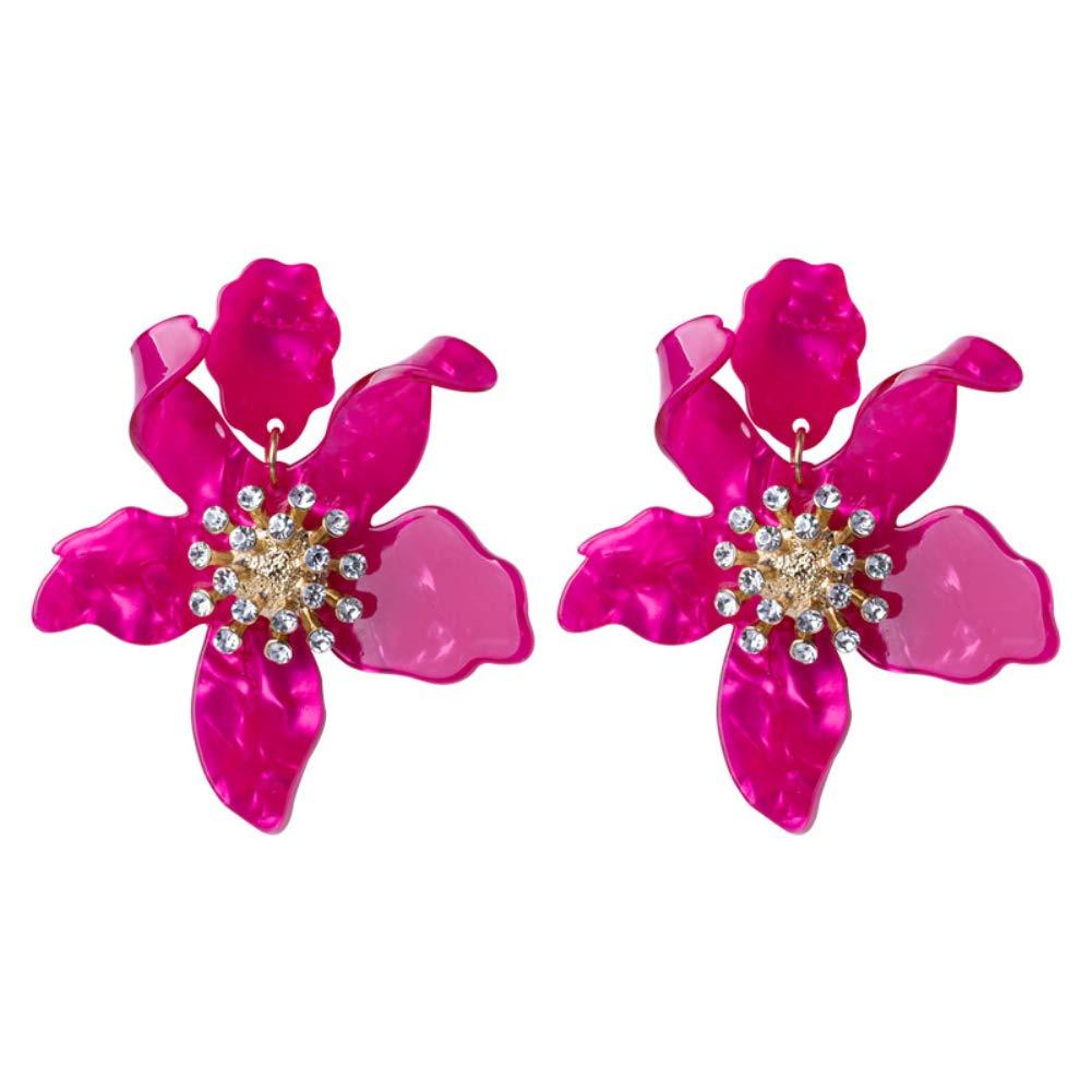 incontri banchetti regali 6SlonHy Orecchini da donna eleganti con orecchini a bottone in acrilico con orecchini a forma di pendente per fiori per feste serali ecc
