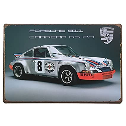 Placas Decorativas Vintage metalicas Coches Porsche. Carteles chapas Decoracion.