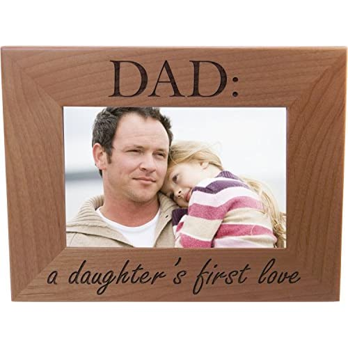 Christmas Ideas For Dad From Daughter.Good Dad A Daughter S First Love 4x6 Inch Wood Picture