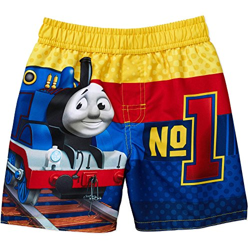 Thomas the Train Little Boys' Swim Trunks (4T)