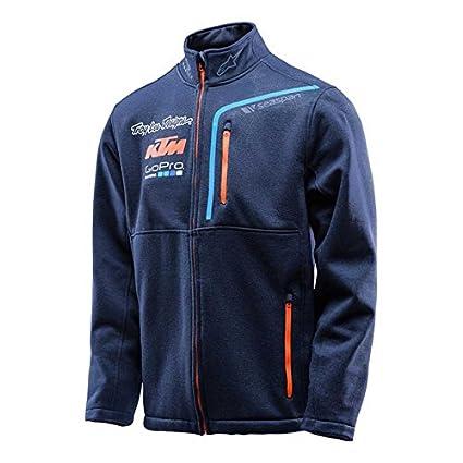 Troy Lee Designs Mens 2016 Team KTM Pit Polar Zip Sweater Sweatshirt 2X-Large Navy