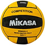 Mikasa W5000BLA Competition Game Ball, Black/Yellow, Size 5