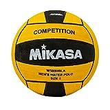 Mikasa W5000BLA Competition Game Ball, Black/Yellow, Size 5