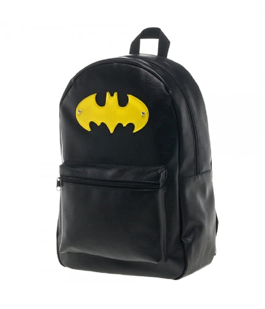 1c674965e3 Amazon.com  Batman Acrylic Logo Faux Leather Backpack  Apparel   Clothing