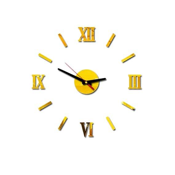 beautyjourney Reloj de Pared 3D DIY con Números Romanos Reloj de ...