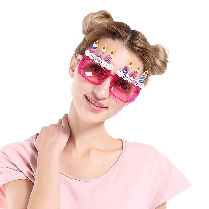 47d946c327 Amazon.com  FEDULK Unisex Funny Crazy Fancy Glasses Novelty Costume  Birthday Holiday Party Sunglasses  Clothing