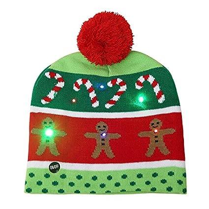 d4f5359235bb5 LED Light Up Hat Beanie Knit Cap