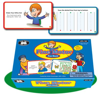 Super Duper Publications Fine Motor Hand Exercises & Prewriting Skills Fun Deck Flash Cards Educational Learning Resource for Children by Super Duper Publications