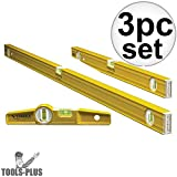 Stabila 29824 - 3 Level Pro-Set Includes 48-Inch , 24-Inch and Die-cast Torpedo