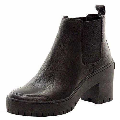 DKNY Women's Silone Lug Sole Booties, Black, 9 B(M) - Boots Dkny