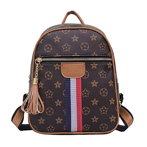 Casual Bags Tote Women's Shopping Brown Brown Nylon AllhqFashion FBUBC207375 Shoulder Bags q0XBWA