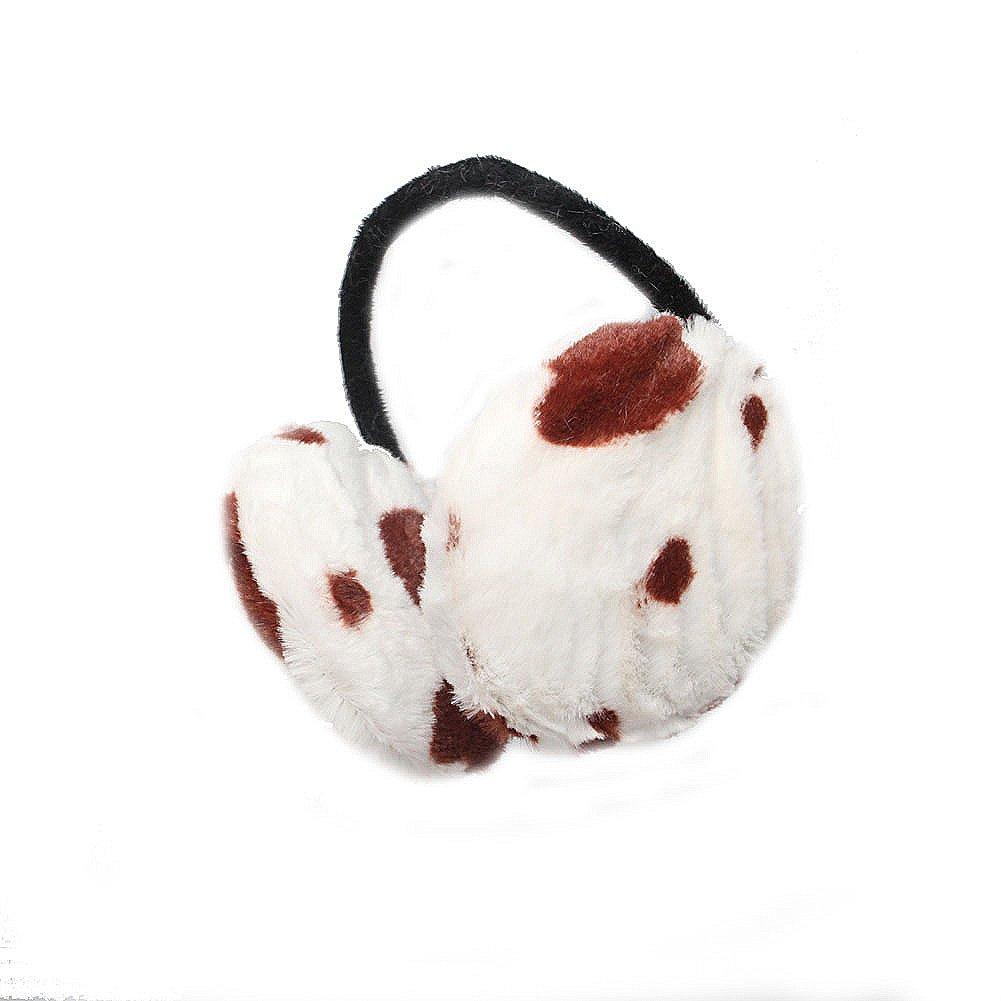 Cow Print Furry Winter Thermal Fashion Earmuffs