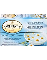Twinings of London Herbal Camomile Tea Bags, 20 Count (Pack of 6)