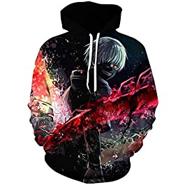 Amoma – Sudadera con capucha para hombre, diseño de dragón de Naruto Bleach con impresión digital 3D