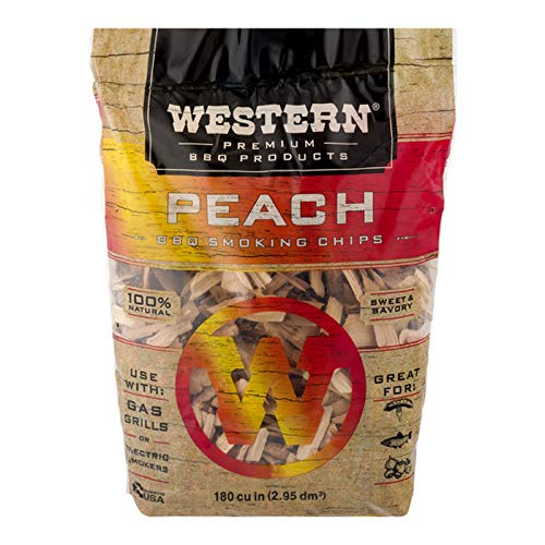 Premium Peach - Western Premium BBQ Products Peach BBQ Smoking Chips, 180 cu in