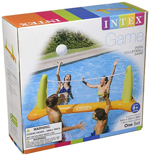 51jRVZpaGgL - Intex Pool Volleyball Game, 94in X 25in X 36in, for Ages 6+