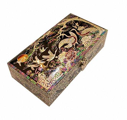 Lacquer Ware Iinlaid Handicraft Jewelry Case Organizer,trinket Box by JMcore High Quality Jewelry Box
